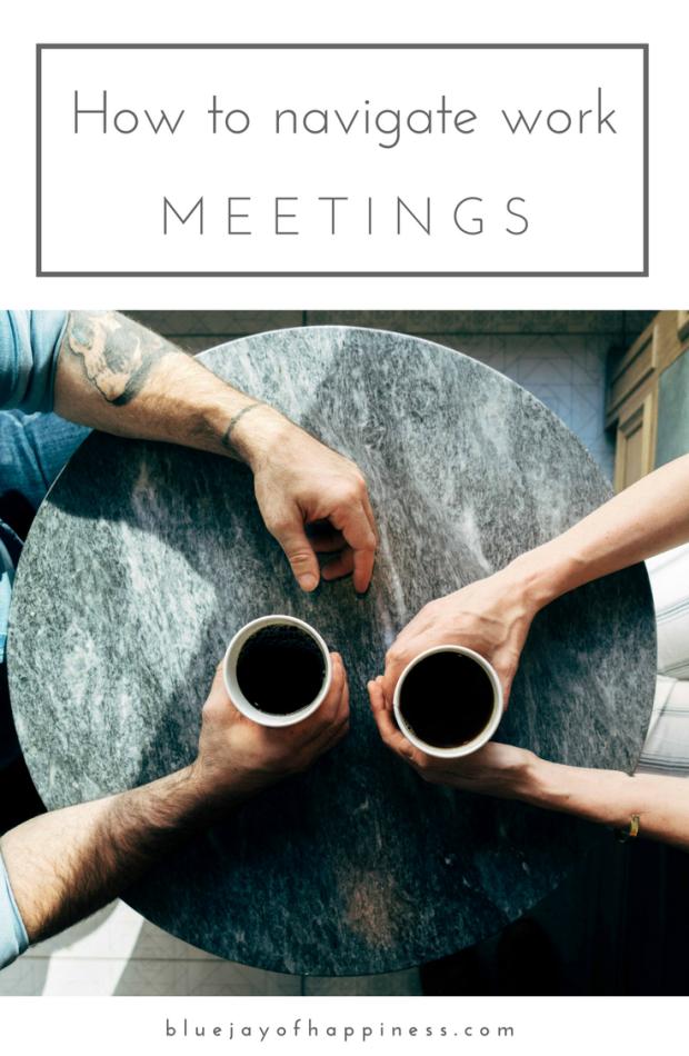 How to navigate work meetings