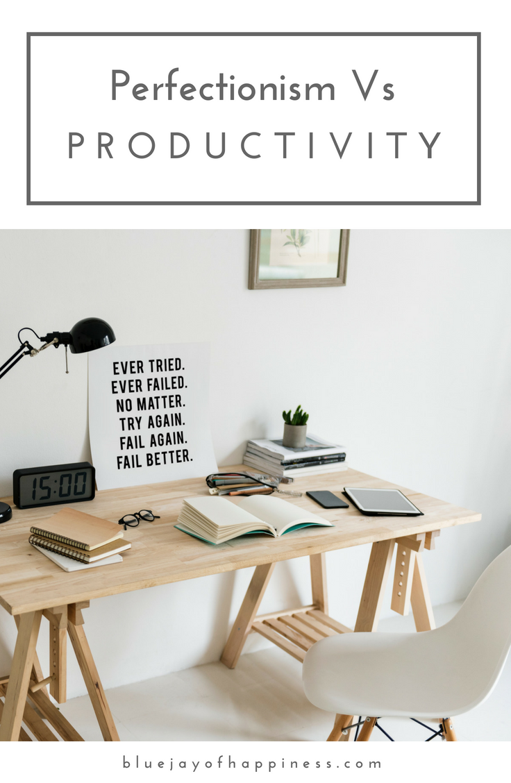Perfectionism vs productivity