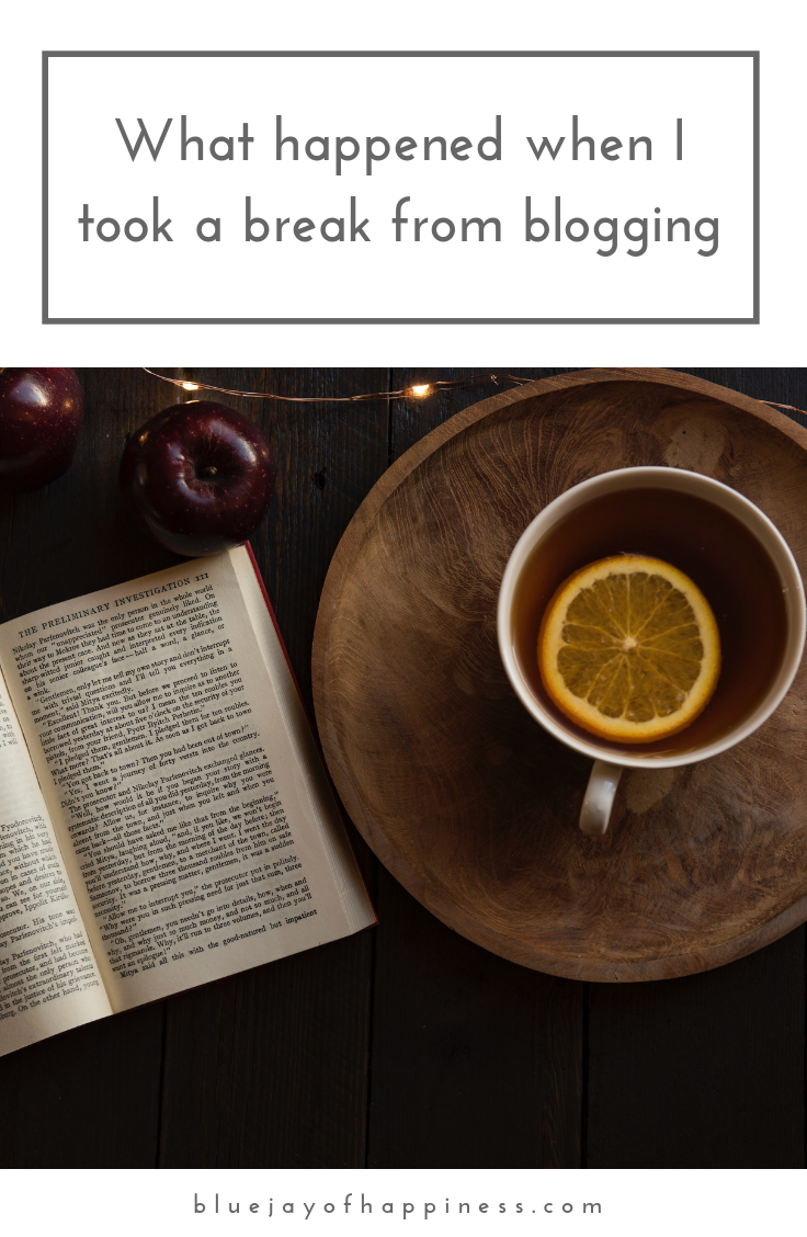 What happened when I took a break from blogging blogging advice blogging tips